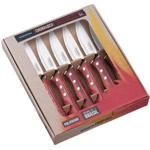 Набор ножей для барбекю Tramontina из 6-ти штук красный
