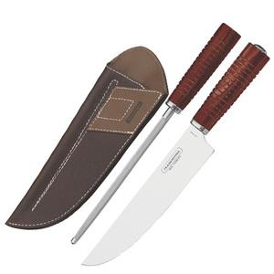 Нож в чехле с заточкой Tramontina Red
