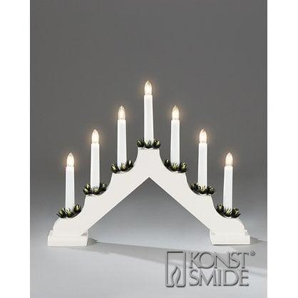 Рождественский подсвечник 7 ламп белый KONST SMIDE купитьв России