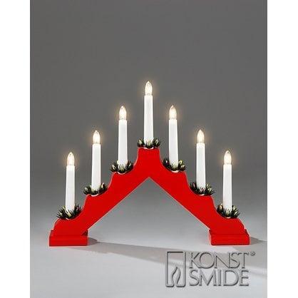 Рождественский подсвечник 7 ламп красныйкупитьв России от европейского производителя KONST SMIDE