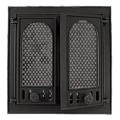 Каминная дверца НTT 126 черная  в России -  Дверцы малых размеров для печей и каминов  -
