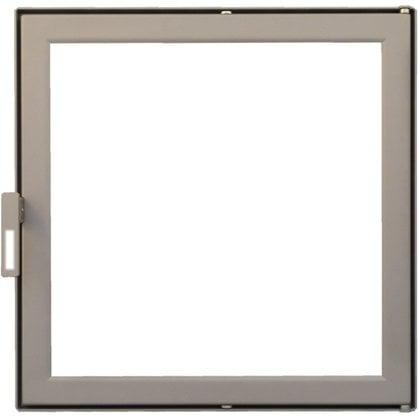 Каминная дверца НTT 301 сатин светло-серый