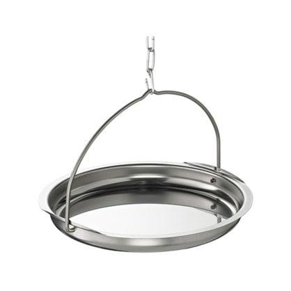 Тарелка для сауны нержавеющая сталь 24 см Opa  в России -  Изделия для сауны LUMO  -