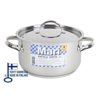 Кастрюля 2,0 литра Opa серия Mari Steel  от производителя  Opa - Opa & Muurikka Russia