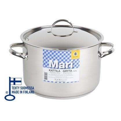 Кастрюля 5,0 литров Opa серия Mari Steel  от производителя  Opa - Opa & Muurikka Russia