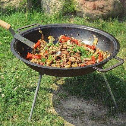 Сковорода походная 43 см WOK с ножками Muurikka купить от поставщика MUURIKKA  - 3-