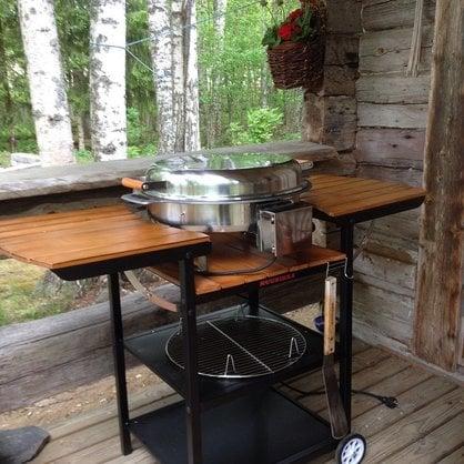 Электрическая летняя кухня Muurikka коричневая купить в России  - 1-