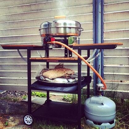 Газовая летняя кухня Muurikka коричневая купить в России - 1-
