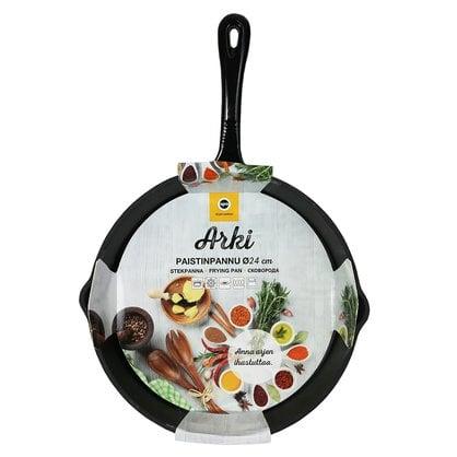 Чугунная сковорода 24 см серия Arki купить в России  - 1-