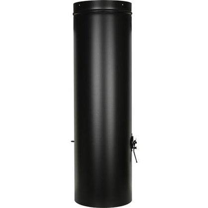 Дымовая труба с заслонкой черного цвета в России - Угольный Гриль Tundra Grill -