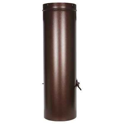 Дымовая труба с заслонкой цвета античная медь  в России -  Угольный Гриль Tundra Grill   -