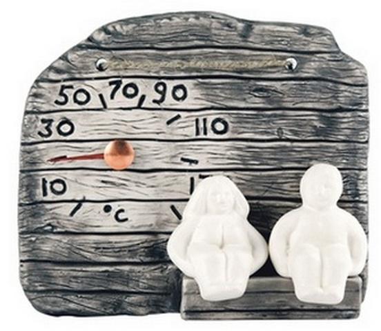 "Термометр керамический для бани ""Дед и Баба"" Lumo"