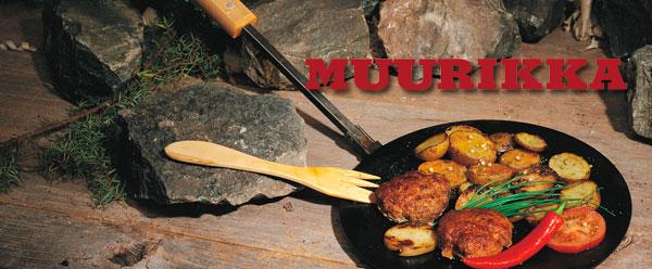 костровые плоские сковороды на ножках Muurikka